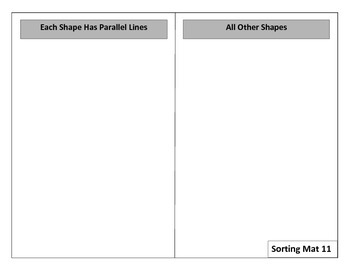 Geometry Shape Sorting Game for Common Core