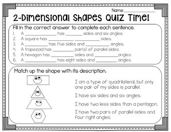 Geometry {2-D and 3-D Shapes Task Cards, Posters, and More}