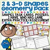 2-D and 3-D Shapes Task Cards, Worksheets, Posters, and More