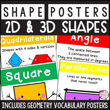2D and 3D Shape Vocabulary Posters