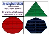 Geometric Shaped Skip Counting Puzzles for Multiplication