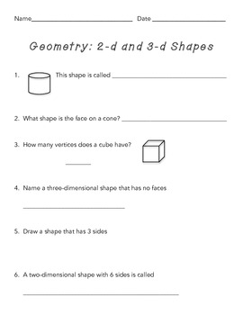 Geometry Shapes/ 2-dimensional and 3-dimensional
