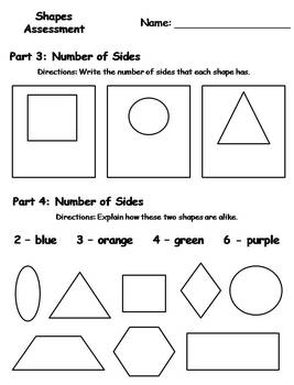 Geometry Shapes Assessment {FREEBIE}