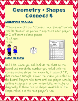 Geometry + Shapes Connect Four