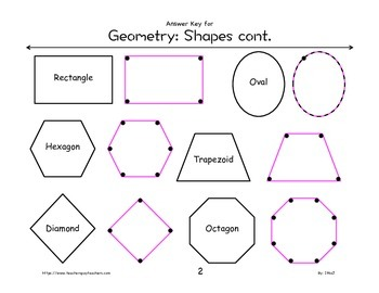 Geometry Worksheet: Shapes Connect the Dots K-3rd Grade