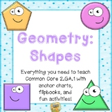 Geometry:  Shapes  - Everything to teach Common Core 2.GA.1 Second Grade