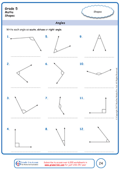 Geometry,Shapes: Grade 5 Maths from www.Grade1to6.com Books