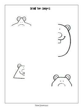 Geometry Shapes Worksheets, Groundhog