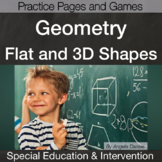 Geometry:  Flat and Solid Shapes | Special Education Math | Intervention