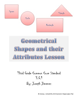 Geometry:  Shapes and Their Attributes (3rd Grade)
