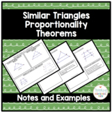 Geometry Similar Triangles Proportionality Theorems
