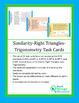 Geometry:  Similar Triangles-Right Triangles-Trigonometry
