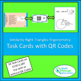 Similarity-Right Triangles-Trigonometry Task Cards with QR Codes