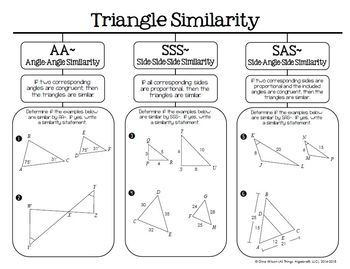 Similar Triangles (Geometry - Unit 6) by All Things ...