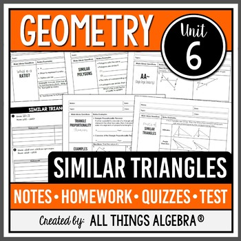 Similar Triangles (Geometry Curriculum - Unit 6) by All ...
