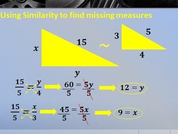Geometry PowerPoint - Similarity (Chapter 8)