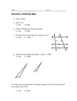 geometry similarity quiz by miss j s tutoring tpt rh teacherspayteachers com Beowulf Study Guide Answers Apush Study Guide Answers
