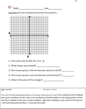 Geometry - Sixth Grade Common Core Math Worksheets - All Standards