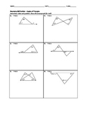 Geometry Skill Builder - Angles of Triangles
