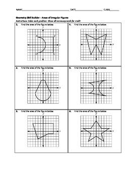 Geometry Skill Builder - Areas of Irregular Figures