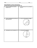 Geometry Skill Builder - Circle Area and Circumference