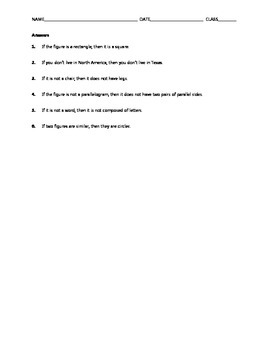 Geometry Skill Builder - Conditional Statements