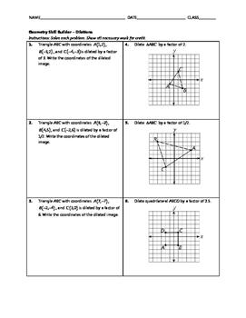 Geometry Skill Builder - Dilations