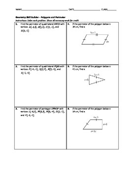 Geometry Skill Builder - Polygons and Perimeter
