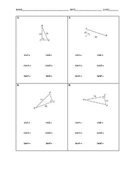 Geometry Skill Builder - Right Triangle Trigonometry FREE