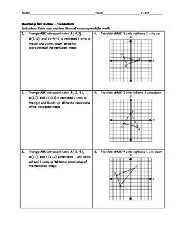 Geometry Skill Builder - Translations