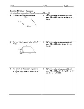 Geometry Skill Builder - Trapezoids