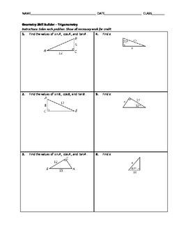 Geometry Skill Builder - Trigonometry