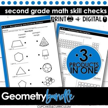 Geometry Skill Checks for Second Grade