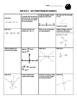 Geometry Skill Drills