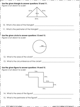 Geometry Skills Assessment