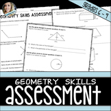 Geometry Skills Assessment