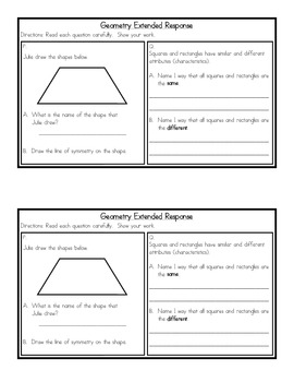 Geometry Skills Review Packet {Common Core Concepts}