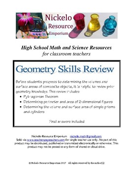Geometry Skills Summary and Review