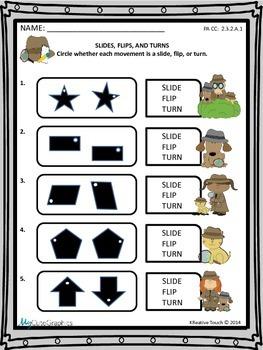Geometry: Slides, Flips, and Turns (Translations, Reflecti
