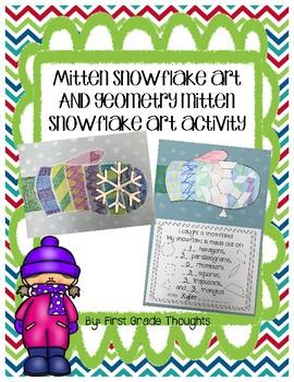 Geometry Snowflake and Mitten Art Activity