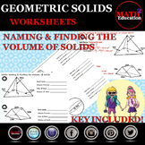 Solids - Naming and Finding the Volume of Solids