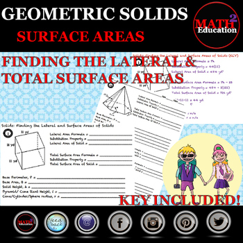 Solids - Finding the Lateral Area and Total Surface Area o