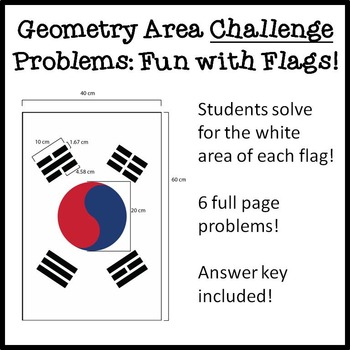 Geometry Solving Area Challenge Problems: Fun with Flags!