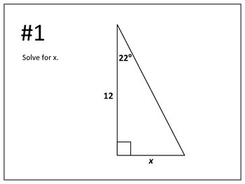 "Geometry: Solving Triangles Using Trig Ratios ""Work the Room"" Activity"