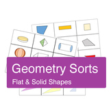 Geometry Sorts: Triangles, Quadrilaterals, Solids