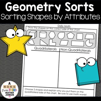 Geometry Sorts: quadrilaterals, polygons, 2D vs 3D, Parallelograms