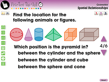 Geometry: Spatial Relationships - Practice the Skill 2 - MAC Gr. PK-2