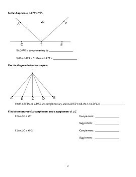 Geometry - Special Angle Pairs Worksheets (Lots of Proofs!)