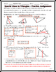 Triangles - Special Lines Investigation Activity & Practice Worksheet
