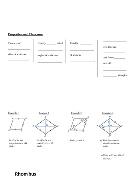 Geometry: Special Quadrilaterals Flip Book
